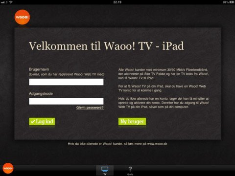 Waoo TV iPad